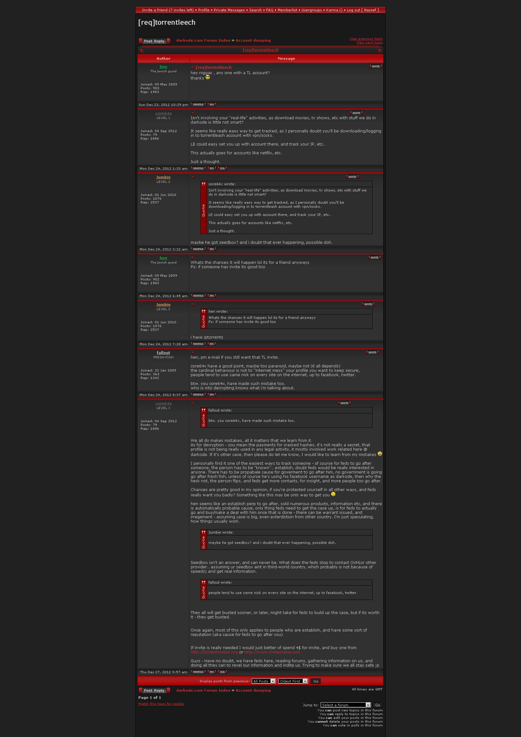 torrentleech invitation generator